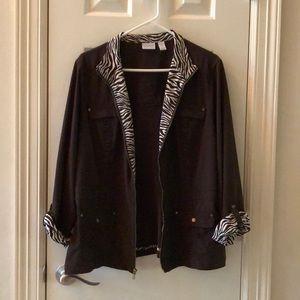 Chico's Zynergy Brown/Brown Zebra Jacket - 3